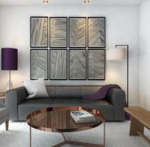 Diseño de vivienda para alquiler vacacional en Madrid Centro.. Un proyecto de Diseño, 3D, Diseño de muebles, Arquitectura interior, Diseño de interiores e Infografía de Bruno Lavedán - 15-07-2016