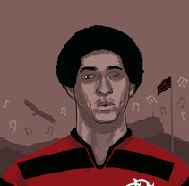Geraldo, el silbido de silenció Maracaná. A Illustration, and Comic project by Gustavo Berocan         - 01.03.2012