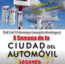 X Semana Ciudad del Automóvil de Leganés. A Advertising project by Rafael Espada Rubio         - 05.04.2017