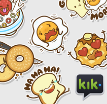 The Breakfast Club | Stickers para Kik Messenger. A Illustration, Character Design, Vector illustration&Icon design project by Squid&Pig  - 09-05-2017