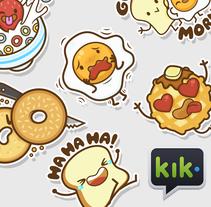 The Breakfast Club | Stickers para Kik Messenger. Un proyecto de Ilustración, Diseño de personajes, Ilustración vectorial y Diseño de iconos de Squid&Pig  - 09-05-2017