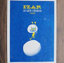 Roller e hijo. Izar, la gata cósmica (Riso). A Illustration project by frigofingers - 01-10-2016