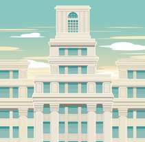 Edificio Telefónica. A Illustration, Architecture, Graphic Design, and Vector illustration project by Juan Sierra - 18-05-2017