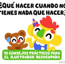Guia para el ilustrador desocupado. A Illustration, and Character Design project by Emo Díaz         - 01.06.2017