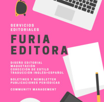 Flyers Furia Editora. A Creative Consulting, and Editorial Design project by Daiana Sol         - 08.06.2017