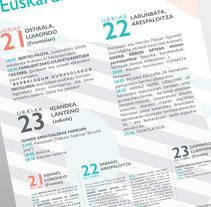 Aiarako euskeraren asteburua. Un proyecto de Diseño gráfico de Beatriz Camargo - 21-10-2016