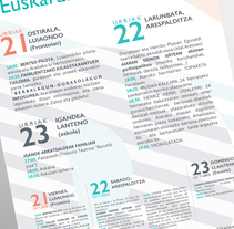 Aiarako euskeraren asteburua. A Graphic Design project by Beatriz Camargo         - 21.10.2016