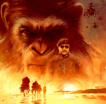 War for the Planet of the Apes. A Illustration, and Film project by Ignacio RC  - 14-06-2017