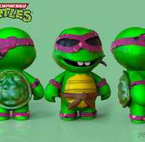 3D Modeled and textured - Turtles Mini. A 3D, Animation, Character Design, Character animation, and Digital retouching project by Marc Bupe         - 19.06.2017
