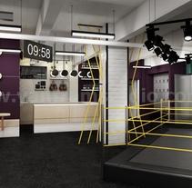Motivación de la aptitud Renderizaciones del gimnasio Ideas de los diseñadores de interior 3D de Yantram. A Design, 3D, Animation, Architecture, Interior Architecture, Video, VFX, and Production project by Yantram Studio  - 29-06-2017