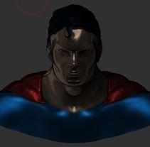 primer busto: superman. Un proyecto de 3D, Diseño de personajes y Escultura de adrianbejarano1994 - 29-06-2017