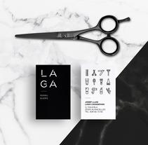 L A G A Perruquers . Un proyecto de Br, ing e Identidad y Diseño gráfico de Acid Estudi         - 30.06.2017