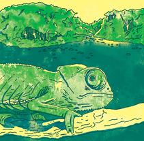 Camaleón en la selva. A Illustration project by Martín Salas - 30-07-2017