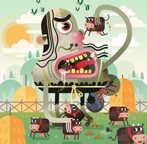 Ilustraciones recientes.. A Illustration, Character Design&Icon design project by Raúl Zeptiror - 24-07-2017