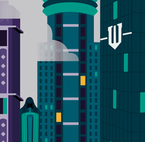 Gotham City. A Graphic Design, and Vector illustration project by Luisa Sirvent - 01-08-2017