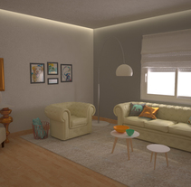 Home, sweet home. A 3D, Interior Architecture, Interior Design, Lighting Design, and Product Design project by Belén Collado Bañuls         - 09.08.2017