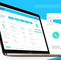CRM - Intranet de gestión de llamadas. A Interactive Design, and Web Design project by Alex Azopardo - 09-08-2017