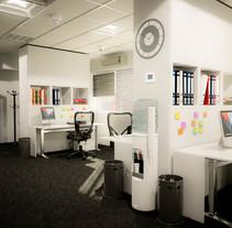 Oficina 3D photorealistica - C4d-Vray LWF. Un proyecto de 3D, Arquitectura interior e Infografía de Milo Massacci         - 14.08.2017