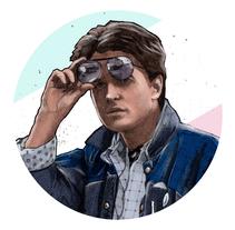 Del dibujo a lápiz a la ilustración digital - Marty McFly. Um projeto de Ilustração de Fabio Spagnoli         - 20.08.2017