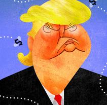 Trump. A Illustration project by Joaquín Aldeguer López         - 20.08.2017