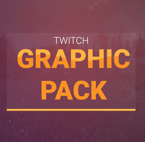 Twitch Graphic Pack. A Game Design, Graphic Design, Information Architecture, Interactive Design, and Web Design project by Alejandro Gonzalez Barrios         - 24.08.2017