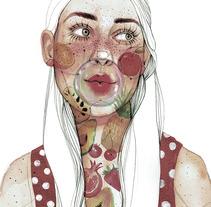 Proceso/Colaboración con SusiSweetDress. A Design, Illustration, Fine Art, and Graphic Design project by Ana Santos         - 28.08.2017