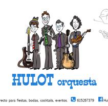 Cartel para grupo musical HULOT orquesta. Un proyecto de Ilustración e Ilustración vectorial de Paco Fernandez Arriero         - 28.08.2017