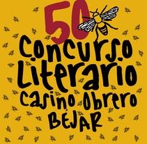 logo del 50 concurso literario del casino obrero de Béjar. A Br, ing&Identit project by Ricardo Gil Turrion - 28-08-2017