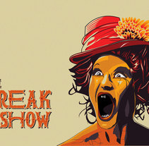 American Horror Story - Freak Show. A Vector illustration project by Brenda Palavicino         - 31.08.2017