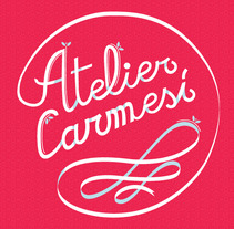 Mini branding Atelier Carmesí. A Br, ing, Identit, and Lettering project by Luisa Sirvent - 02-09-2017