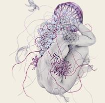 Jellyfish VII. Um projeto de Ilustração, Direção de arte, Artesanato, Design editorial, Artes plásticas, Design gráfico e Arte urbana de Elisa Ancori  - 06-09-2017