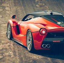 La Ferrari / ROBOT. Un proyecto de Diseño, Publicidad, Cine, vídeo, televisión, 3D, Animación, Dirección de arte, Diseño de automoción, Diseño industrial, Diseño de iluminación, Post-producción, Vídeo, Televisión, VFX y Producción de Ro Bot - 15-09-2017