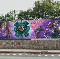 Fenix art soccer graffiti SLP. Um projeto de Arte urbana de Héctor Armando Domínguez Rodríguez - 19-09-2017