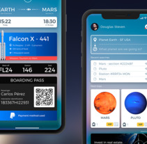 Space X in iPhone X Nuevo proyecto. A UI / UX project by Carlos Pérez         - 22.09.2017