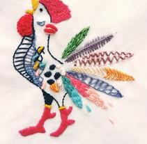 Mi Proyecto del curso: Técnicas de bordado: ilustrando con hilo y aguja. Un proyecto de Artesanía de Mercedes Rodríguez - 02-10-2017