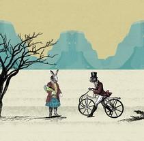 un caluroso día en el desierto. A Illustration project by Erick  Herrera Velasco - 19-10-2017