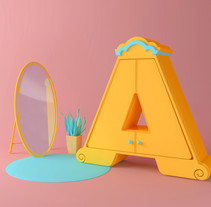 36 days of type. A Illustration, and 3D project by Tati Astua         - 11.04.2017
