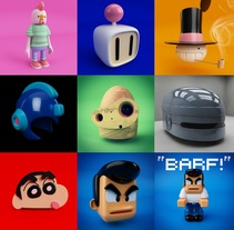 Mi Proyecto del curso: Diseño de personajes en Cinema 4D: del boceto a la impresión 3D. Um projeto de 3D de Yorch Martinez Peredo - 21-10-2017