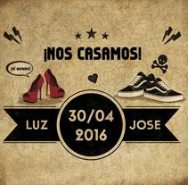 INVITACIÓN DE BODA - Luz & Jose - Rock 'n' Roll! . A Design, Illustration, and Graphic Design project by Irene Ibáñez Gumiel         - 23.10.2017