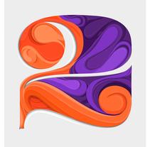 Numero 2. De la serie Typos con Flow. Un proyecto de Ilustración, Diseño gráfico, Tipografía, Caligrafía e Ilustración vectorial de Maikel Martínez Pupo - 26-10-2017
