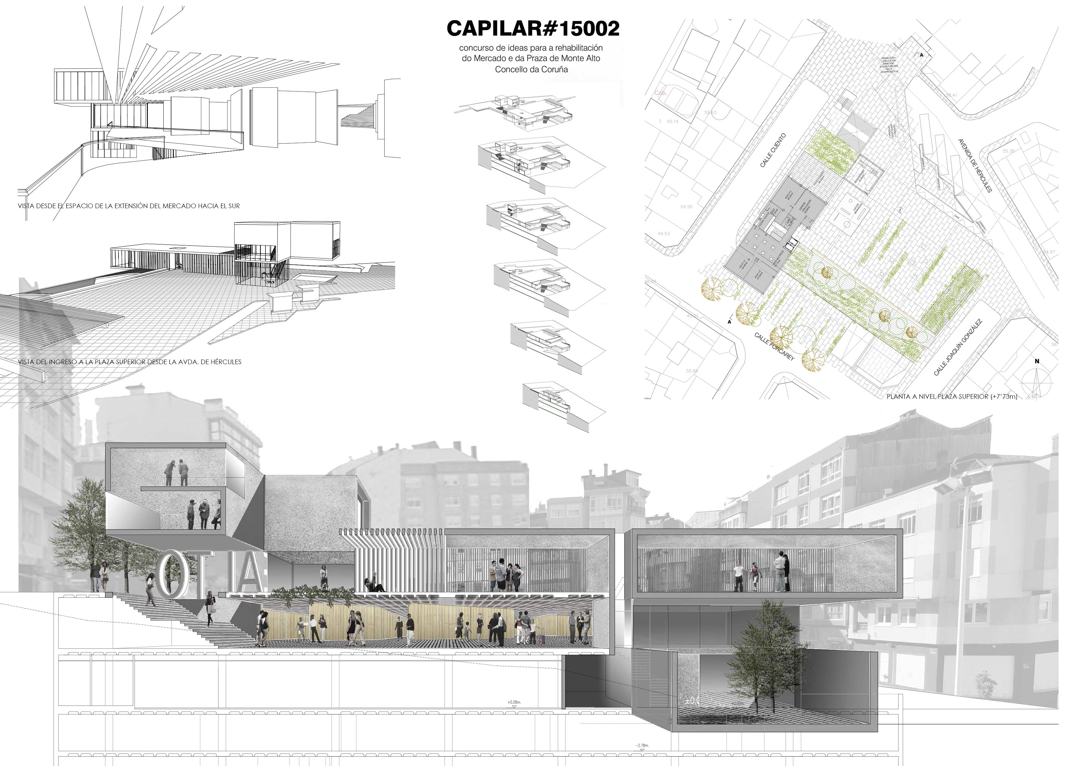 Concurso de arquitectura rehabilitaci n mercado y plaza - Arquitectura de interiores coruna ...