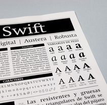 Swift: Espécimen tipográfico | Font Specimen. A Editorial Design, and Graphic Design project by Laura Jorba Torras - 27-10-2017