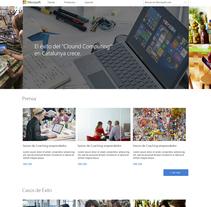 Microsoft Catalunya. A Web Design project by Jhonatan Andrés González Ordoñez         - 29.10.2017