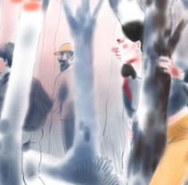 El bosque . A Illustration project by irene  amaro fernandez         - 30.10.2017
