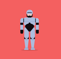 Robocop vs fly. A Design, Motion Graphics, Film, Video, TV, Character Design, Graphic Design, Film, Character animation, and Vector illustration project by Héctor Pascual del Pozo         - 02.11.2017