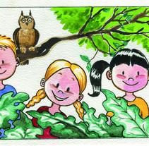 Portada para comic infantil.. A Illustration project by Carol Skullart         - 03.06.2017
