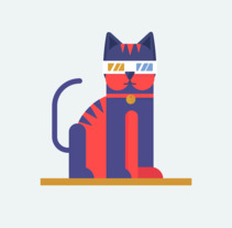 Retrocat. A Illustration, and Vector illustration project by Kitxune  - 06-11-2017