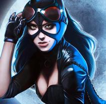 Catwoman. Un proyecto de Ilustración de Ana del Valle Seoane         - 07.11.2017