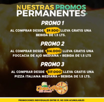Publicidad Promociones Permanentes Chenas Pizza San Bernardo, Santiago de Chile. Um projeto de Publicidade de David Rojas Inostroza         - 25.10.2017