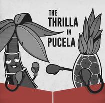 CARTEL (Ciclón Tropical & Shakin' Piñas). Um projeto de Ilustração, Design de personagens e Design gráfico de Carlos Vidriales Sánchez         - 14.11.2017